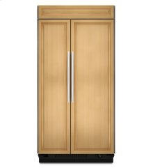 KitchenAid® 25.3 Cu. Ft. 42-Inch Width Built-In Side-by-Side Refrigerator, Overlay Panel-Ready - Panel Ready