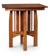 Aspen Pub Table with Inlay, Solid Top