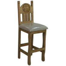 """17"""" x 49"""" x 30"""" No Star Barstool with Cushion Seat and Stone Star"""