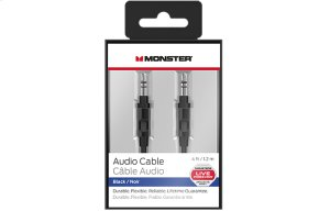 Mobile Audio Cable - 4ft or 8ft - 4 feet / Black