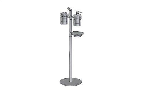 Free Standing Soap/Lotion Dispenser, Soap Dish Holder & Tumbler