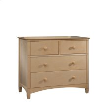 Essex 2 over 2; 4 Drawer Chest- Natural