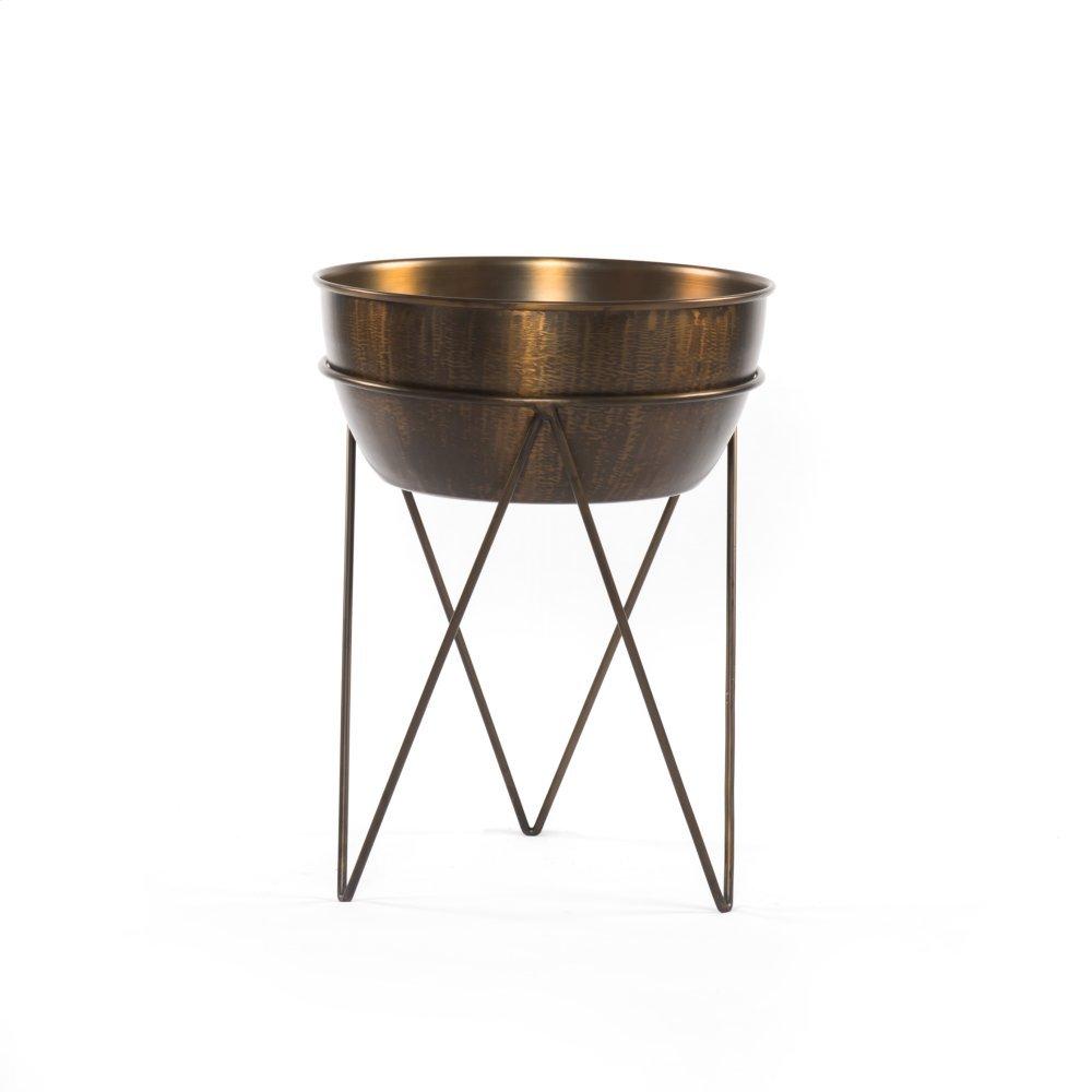Luna Planter-weathered Brass