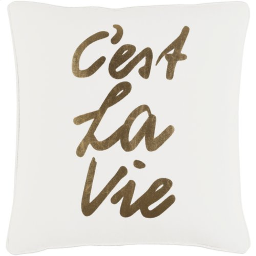 """Glyph GLYP-7114 18"""" x 18"""" Pillow Shell with Down Insert"""