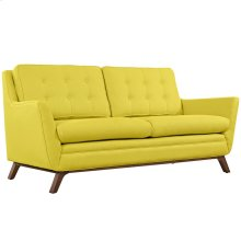 Beguile Upholstered Fabric Loveseat in Sunny