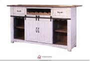 Wooden Bar Top & Base w/Iron footrest Product Image