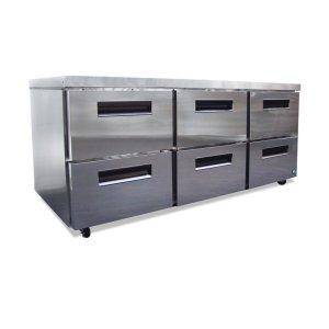 HoshizakiRefrigerator, Three Section Undercounter with Drawers