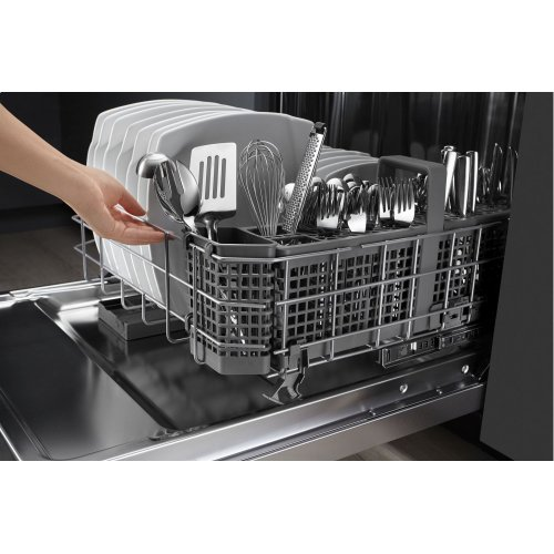 44 dBA Dishwasher with Dynamic Wash Arms - Stainless Steel