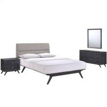 Addison 4 Piece Queen Bedroom Set in Black Gray