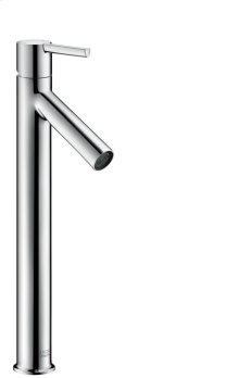 Chrome Single lever basin mixer 250 for wash bowls with lever handle without pull-rod
