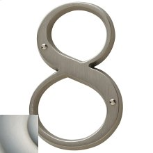 Satin Nickel with Lifetime Finish House Number - 8