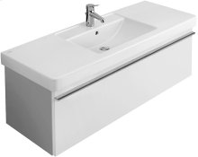 """Vanity washbasin 51"""" Angular - White Alpin"""