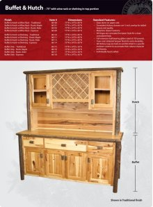 """Hickory Buffet and Hutch - 75"""""""