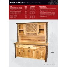 Hickory Buffet and Hutch - 75""
