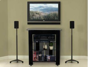 Black TV/AV Stand Rigid strength and contemporary design in an affordable package