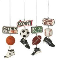 Sport Score Dangle Ornament (4 asstd). Product Image