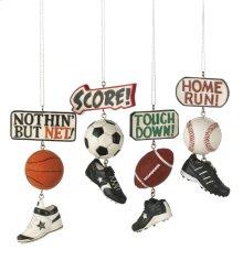 Sport Score Dangle Ornament (4 asstd).