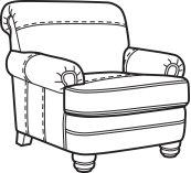 Bay Bridge Leather Chair without Nailhead Trim