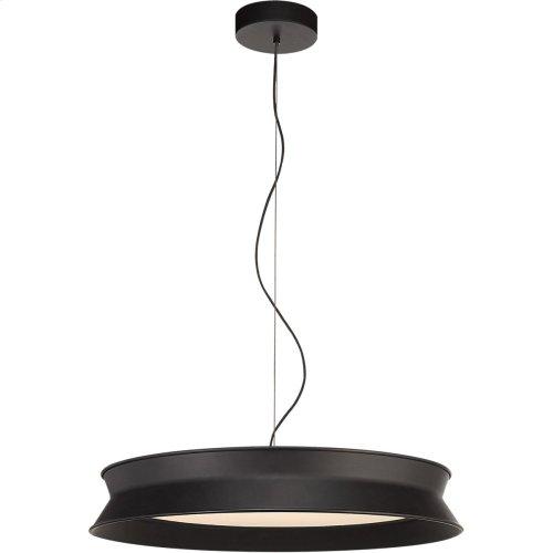 Visual Comfort PB5022STB Peter Bristol 60/40 LED 26 inch Stone Black Pendant Ceiling Light