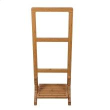 "39"" Bamboo Freestanding Towel Rack"