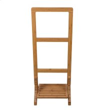 "39"" Bamboo Freestanding Towel Rack"