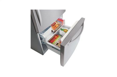 """24 cu. ft. Large Capacity Bottom Freezer Refrigerator with Ice Maker (Fits a 33"""" Opening)"""