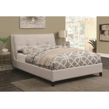 Amador Beige Upholstered Queen Platform Bed