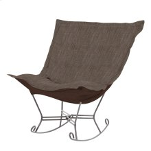 Scroll Puff Rocker Coco Slate Titanium Frame
