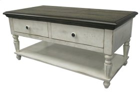 Vintage Estates Coffee Table(w/ pull-thru drawers on both sides)