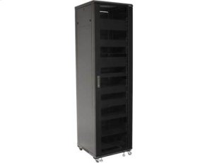 "Black 85"" Tall AV Rack 44U Component rack for home theater equipment"