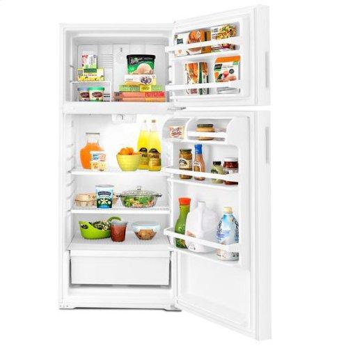 28-inch Top-Freezer Refrigerator with Gallon Door Storage Bins - white
