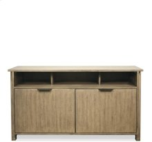Perspectives Entertainment Console Sun-drenched Acacia finish