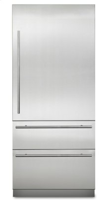 "36"" Virtuoso Fully Integrated Bottom-Freezer Refrigerator, Right Hinge/Left Handle"