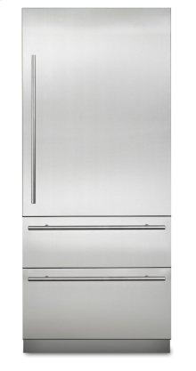 "36"" Virtuoso Fully Integrated Bottom-Freezer Refrigerator, Right Hinge/Left Handle"