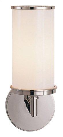 Visual Comfort S2006PN-WG Studio Cylinder 1 Light 6 inch Polished Nickel Bath Wall Light