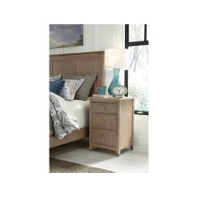 3-Drawer Nightstand in Taupe Gray