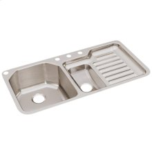 """Elkay Lustertone Classic Stainless Steel, 41-1/2"""" x 20-1/2"""" x 9-1/2"""", 40/60 Double Bowl Undermount Sink"""