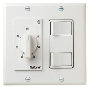 Broan60 Min. Timer/2 On/Off Switches (White)