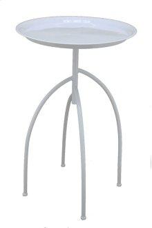 Metal Tripod Accent Table, White