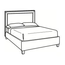Queen Bed with Short Headboard