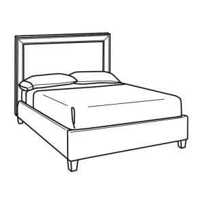 C.R. Laine Queen Bed With Short Headboard