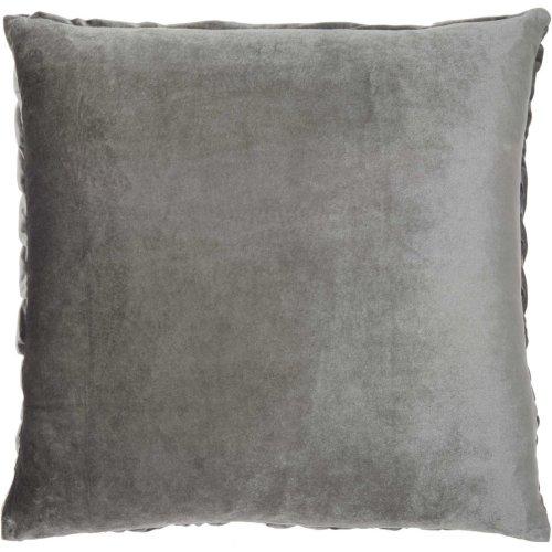 "Life Styles L0064 Dark Grey 22"" X 22"" Throw Pillows"