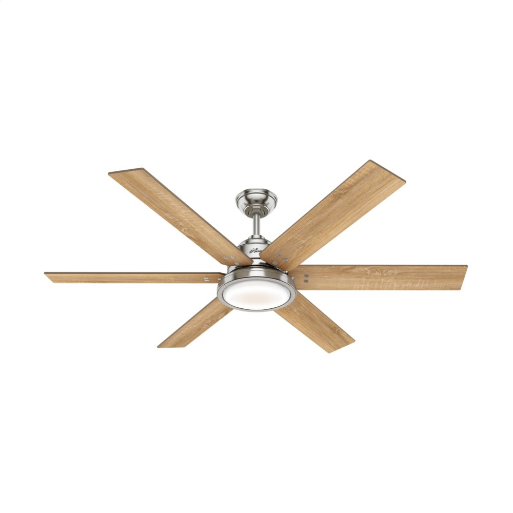 Warrant with LED Light 60 inch Ceiling Fan  BRUSHED NICKEL