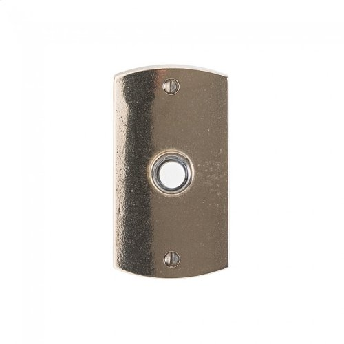 Convex Doorbell Button White Bronze Brushed
