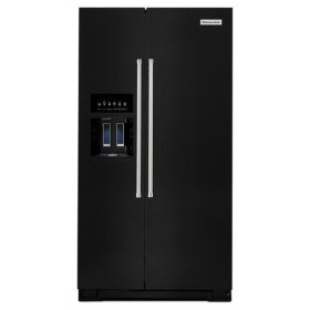 KitchenAid® 24.8 Cu. Ft. Standard Depth Side-by-Side Refrigerator with Exterior Ice and Water - Black