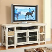 Aberdeen - TV Console - Weathered Worn White Finish Product Image