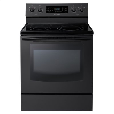 New 5.9 cu. ft. Large Capacity Electric Range (Black) Product Image