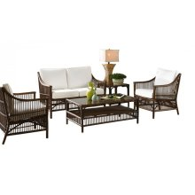 Bora Bora 5 PC Seating Set w/beige cushions