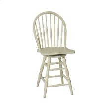 "Windswept Bowback 24""h Swivel Barstool"