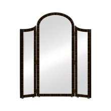 Triple Full Length Art Deco Macassar Ebony High Lustre Mirror